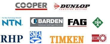 Dunlop, Cooper, FAG, SKF, Barden, RHP, SNFA and Timken Roller Bearings